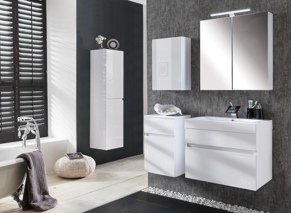 SAM® Badmöbel PARMA 5tlg weiß Hochglanz 70 cm