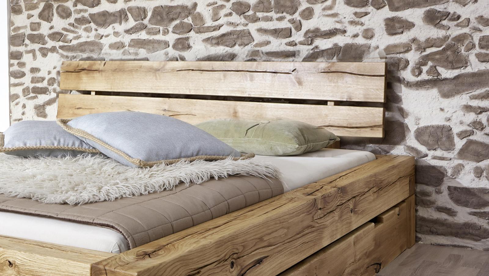 sam balkenbett 160x200 massivholzbett mit bettkasten wildeiche elias demn chst. Black Bedroom Furniture Sets. Home Design Ideas