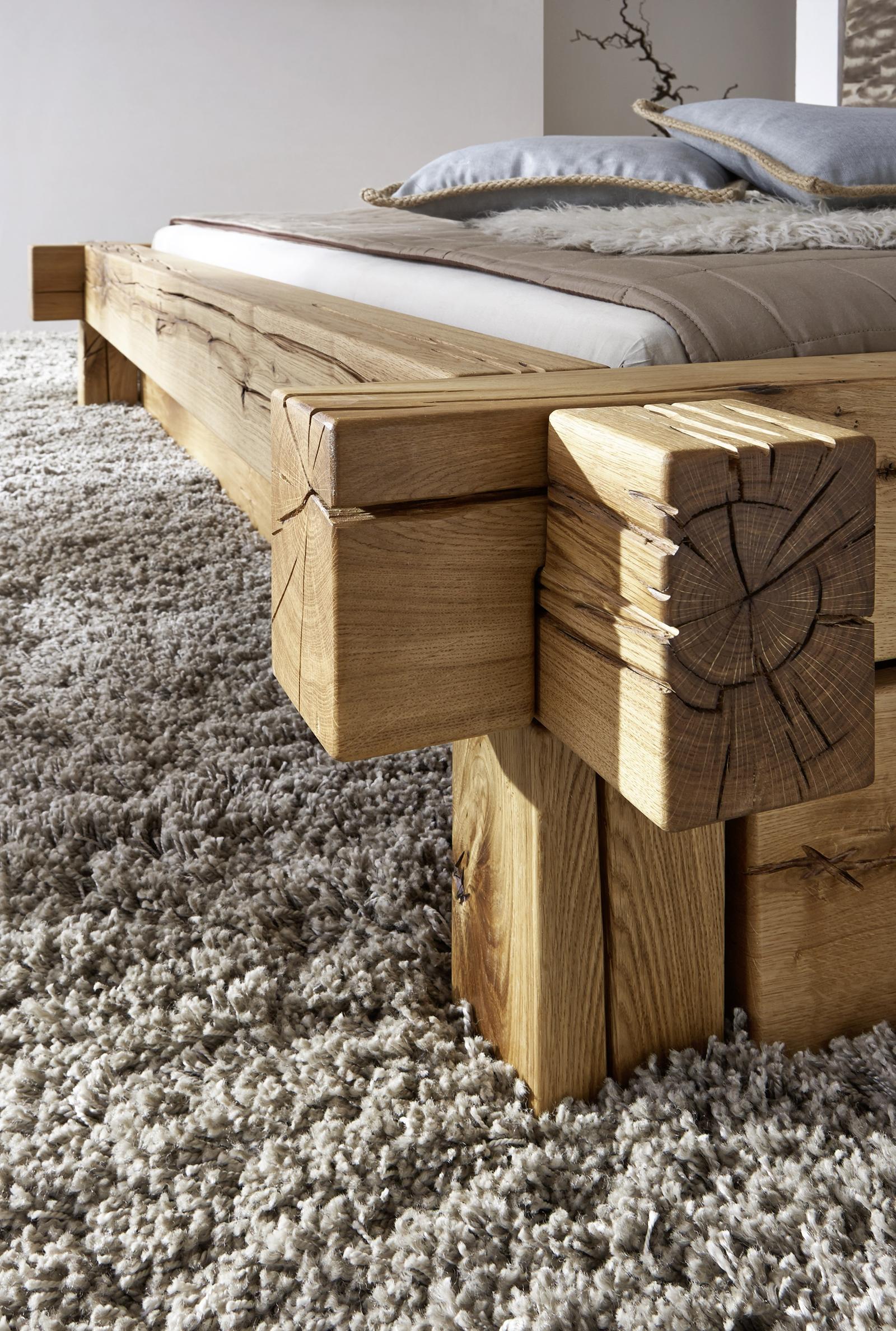 sam balkenbett 200x200 massivholzbett mit bettkasten wildeiche jonas demn chst. Black Bedroom Furniture Sets. Home Design Ideas