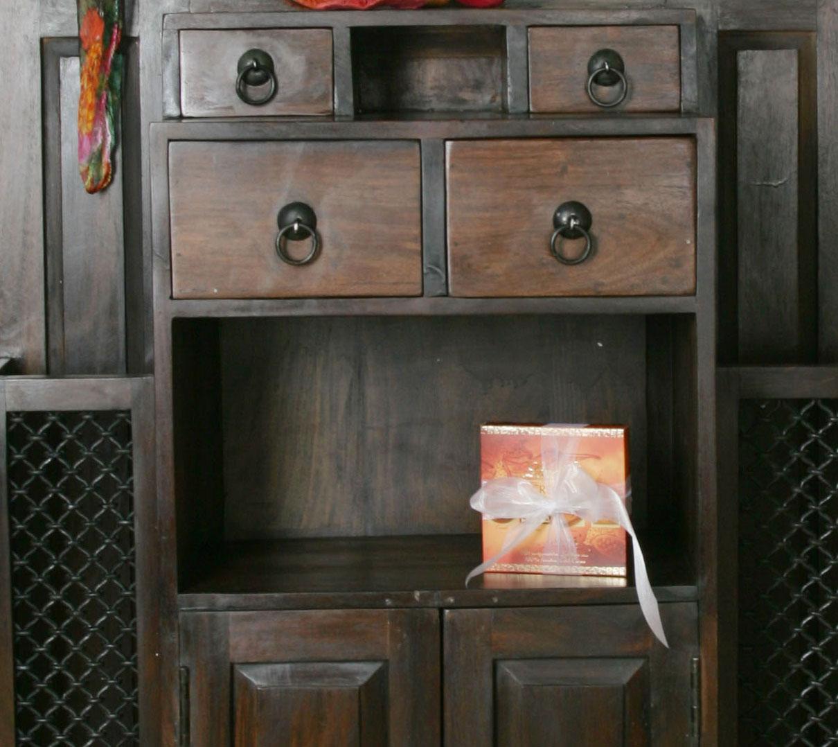 SAM® Garderobe Schrank 198 cm Sheesham walnuss BOMBAY-7031