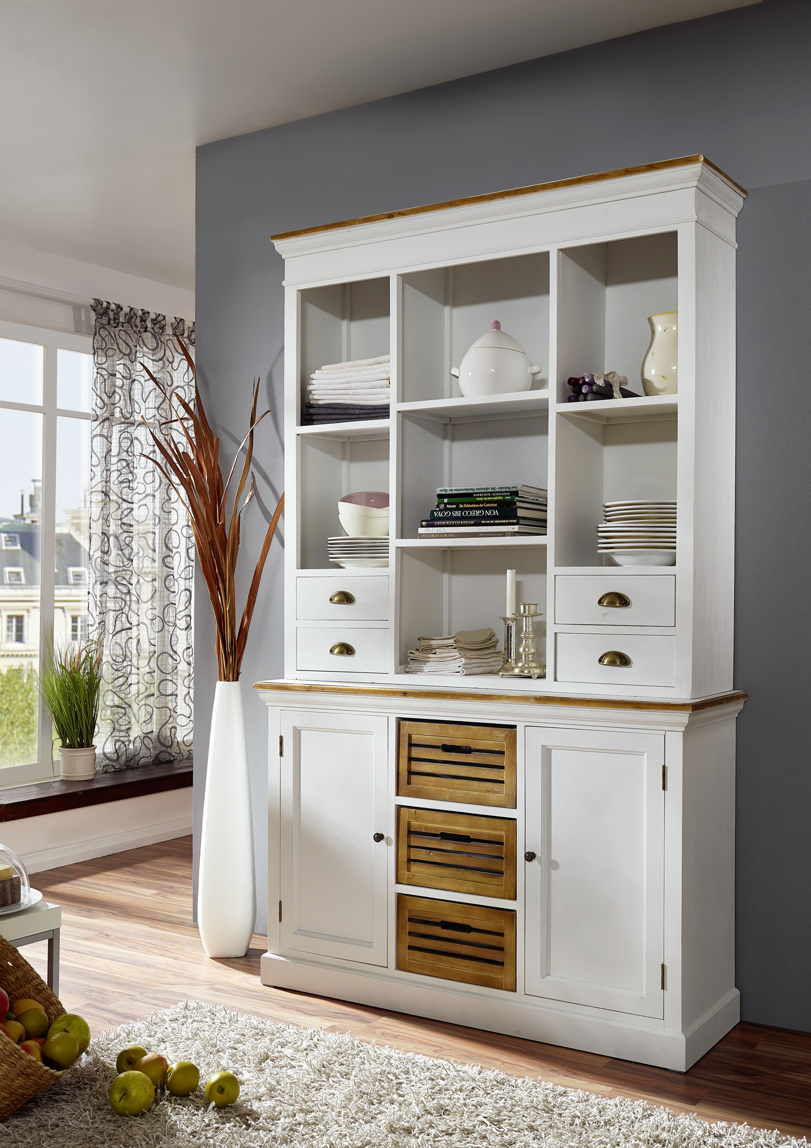 sam k chenbuffet wei lackiertes paulowniaholz paris 417 auf lager. Black Bedroom Furniture Sets. Home Design Ideas