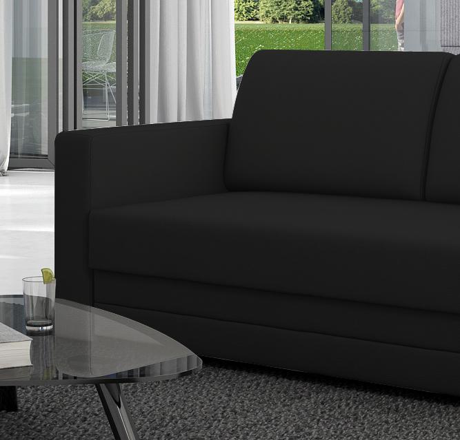 Sam sofa schwarz schlafsofa carmelita 150 cm for Schlafsofa 150