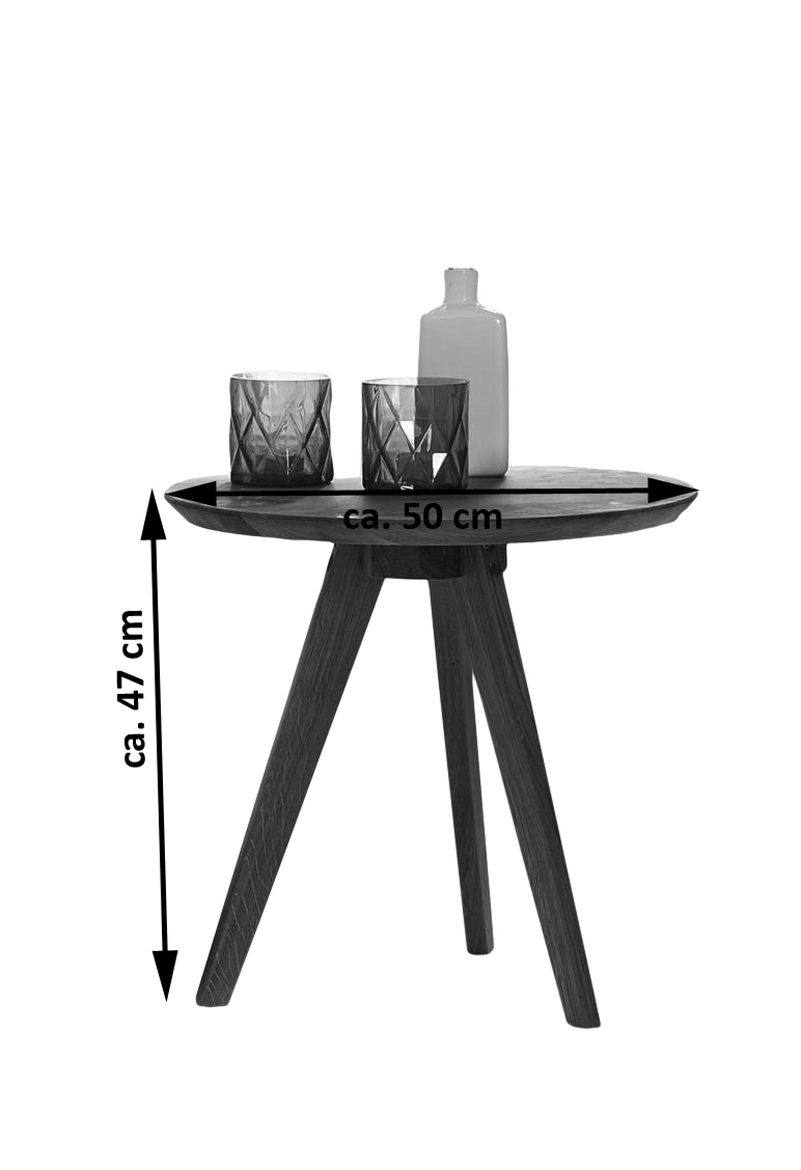 sam couchtisch beistelltisch 50 cm rund massivholz kernbuche olpe. Black Bedroom Furniture Sets. Home Design Ideas