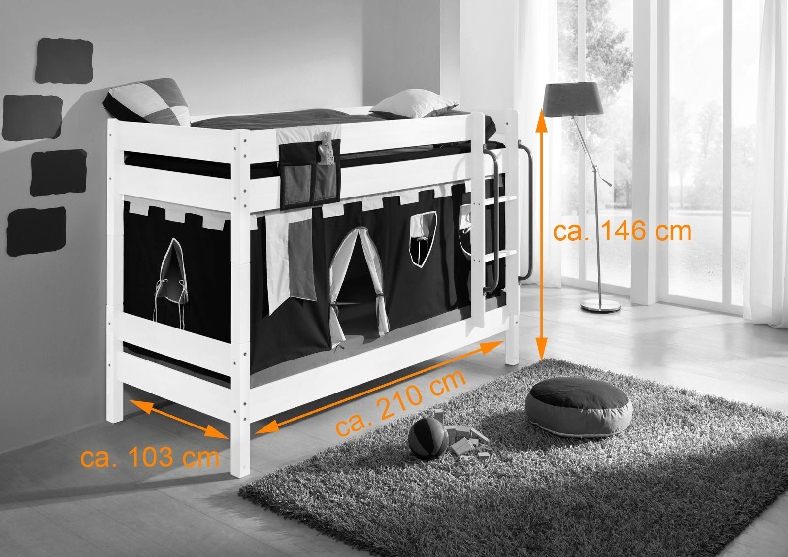 Etagenbett Kinder Massiv : Kinder etagenbett mit matratzen sitzbänken buche hochbett