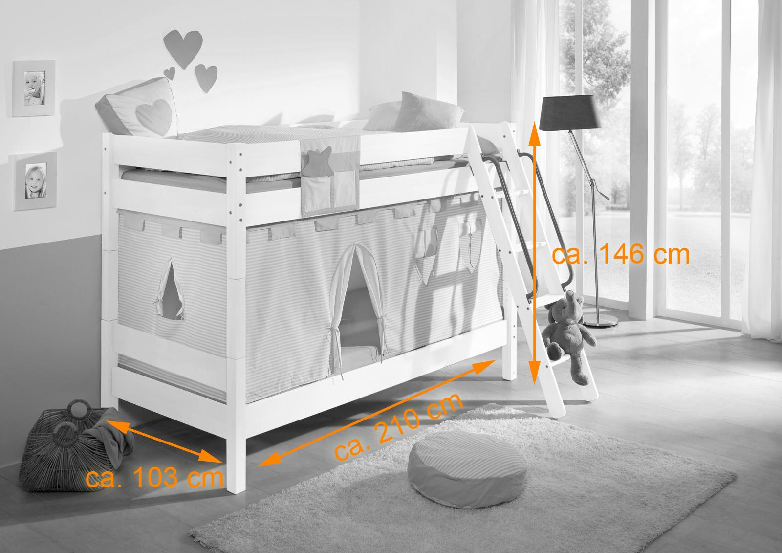 Etagenbett Kinder Buche Massiv : Kinder stockbetten mit lattenrost für jungen mädchen günstig