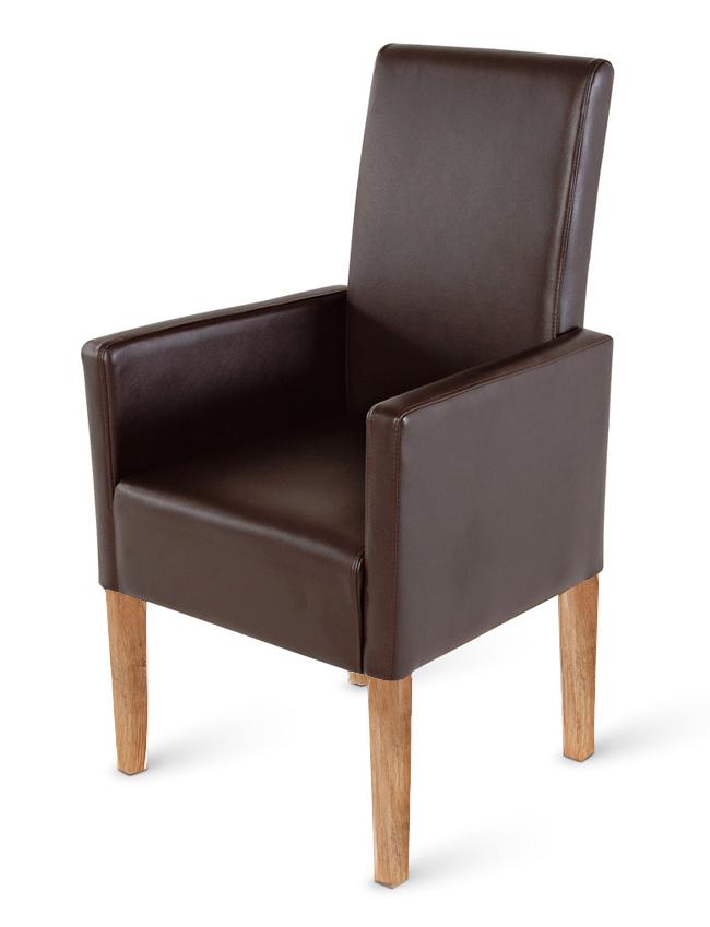 sam esszimmerstuhl armlehnstuhl braun recyceltes leder moresco demn chst. Black Bedroom Furniture Sets. Home Design Ideas