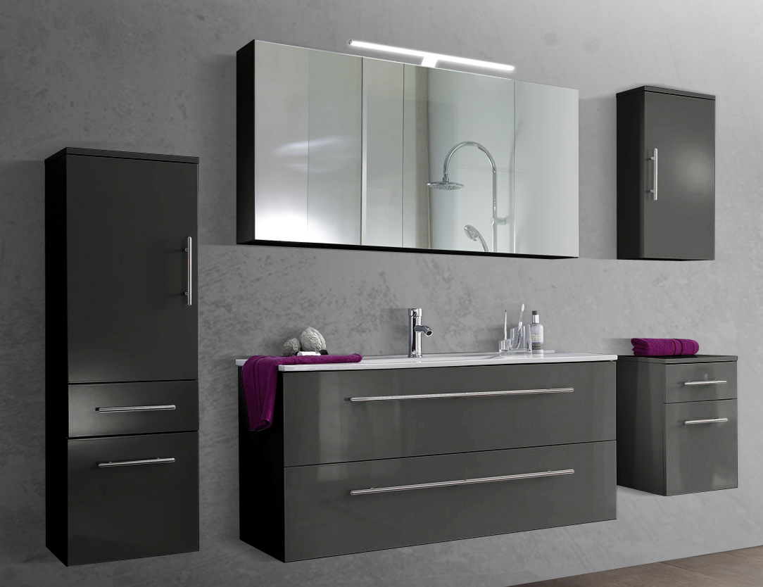 Badezimmer Set Grau - Design