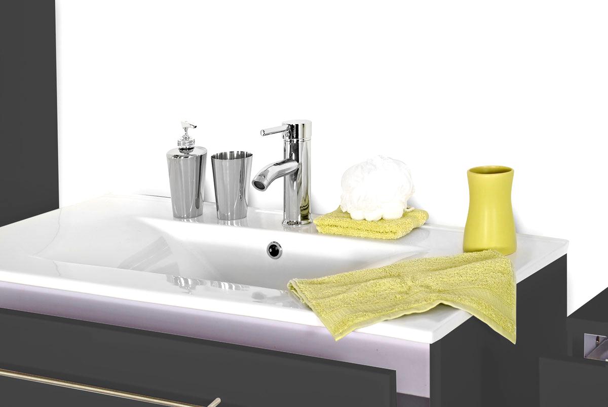 Badezimmer Set Spiegelschrank Grau 80 Cm Verena Auf Lager ! Itempropu003d