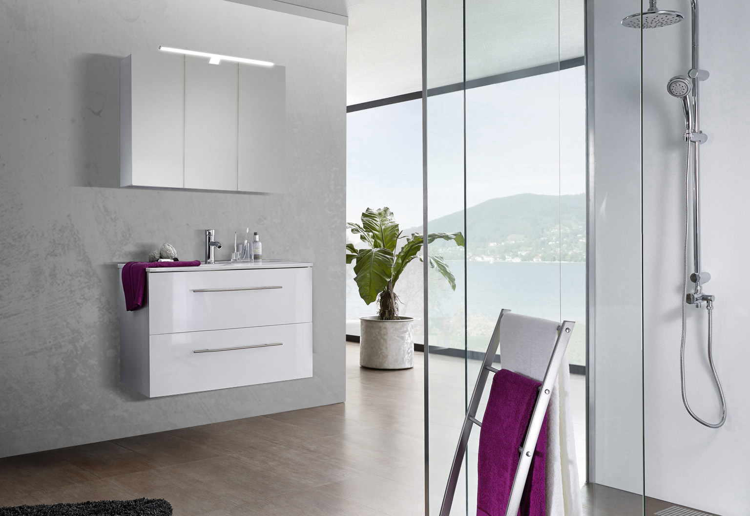 sam® 2tlg. badezimmer set spiegelschrank weiß 90 cm verena, Badezimmer ideen