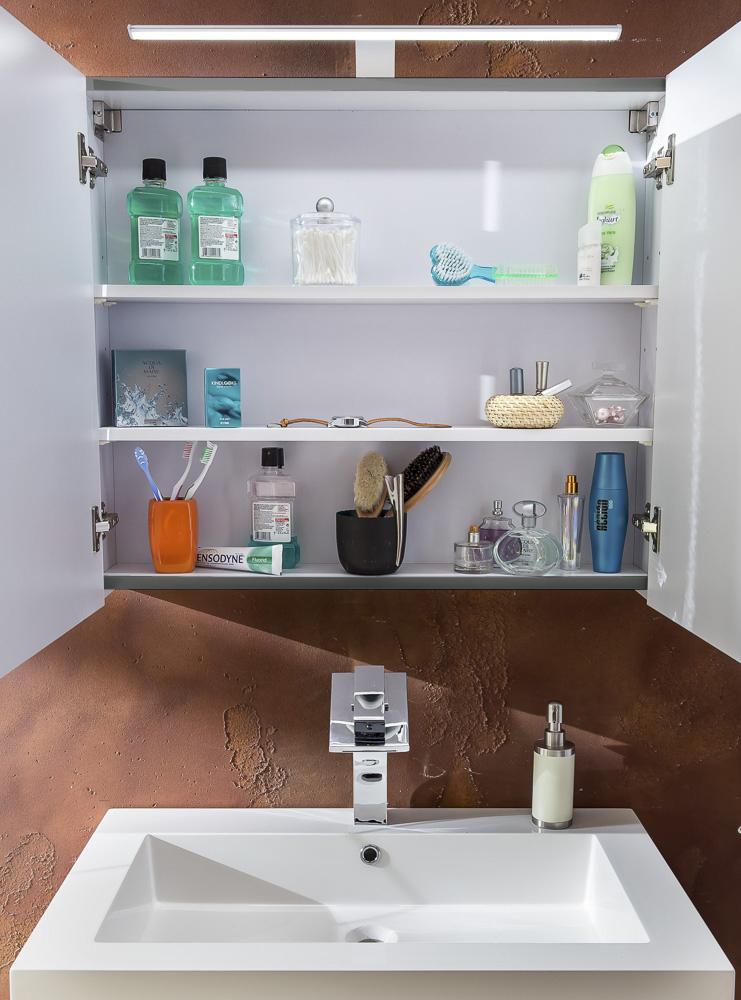 Schön SAM® 3tlg Badezimmer Set Spiegelschrank Grau 80 Cm Lunar Auf Lager !  Itempropu003d