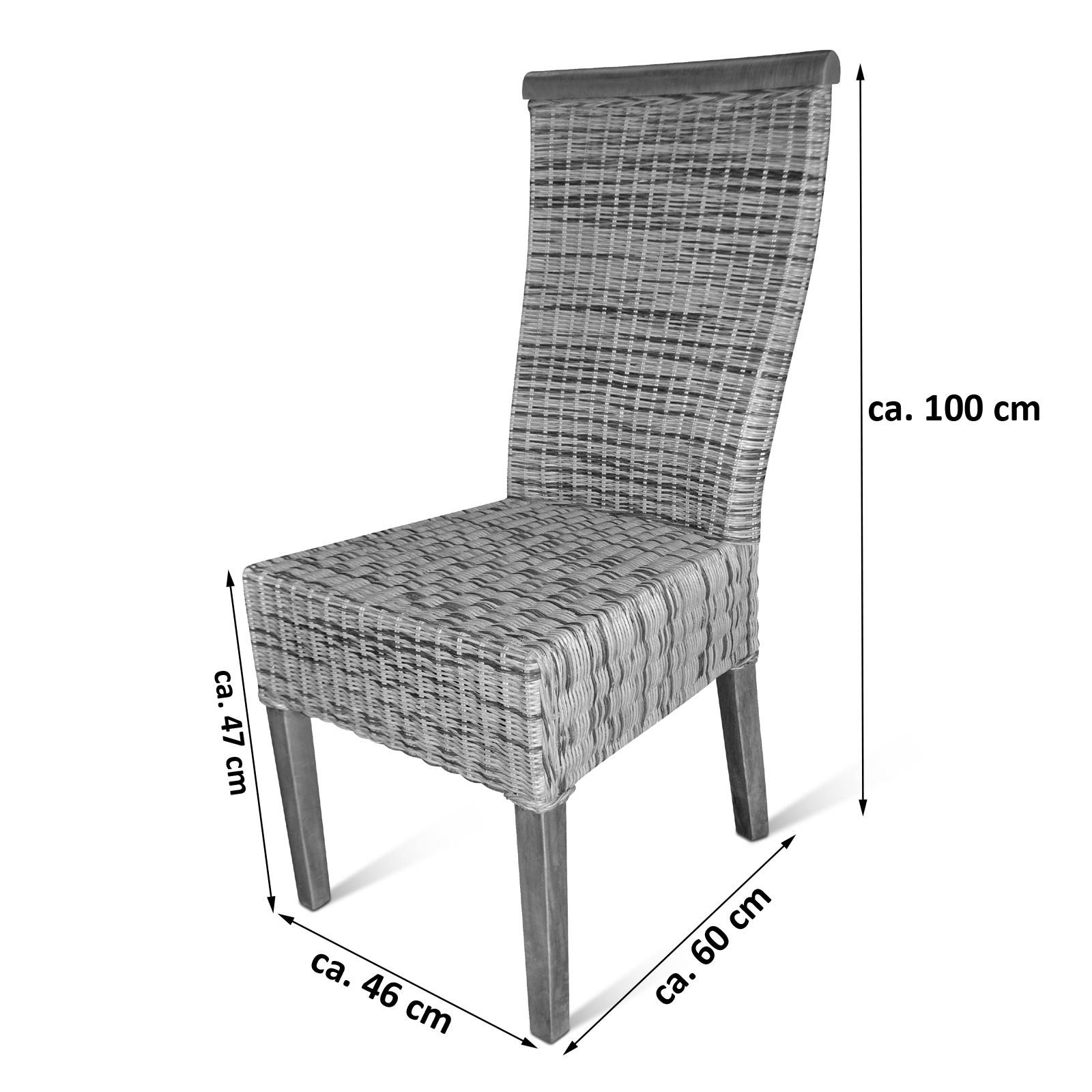 sam® esszimmer stuhl rattan ramosa pinie dago