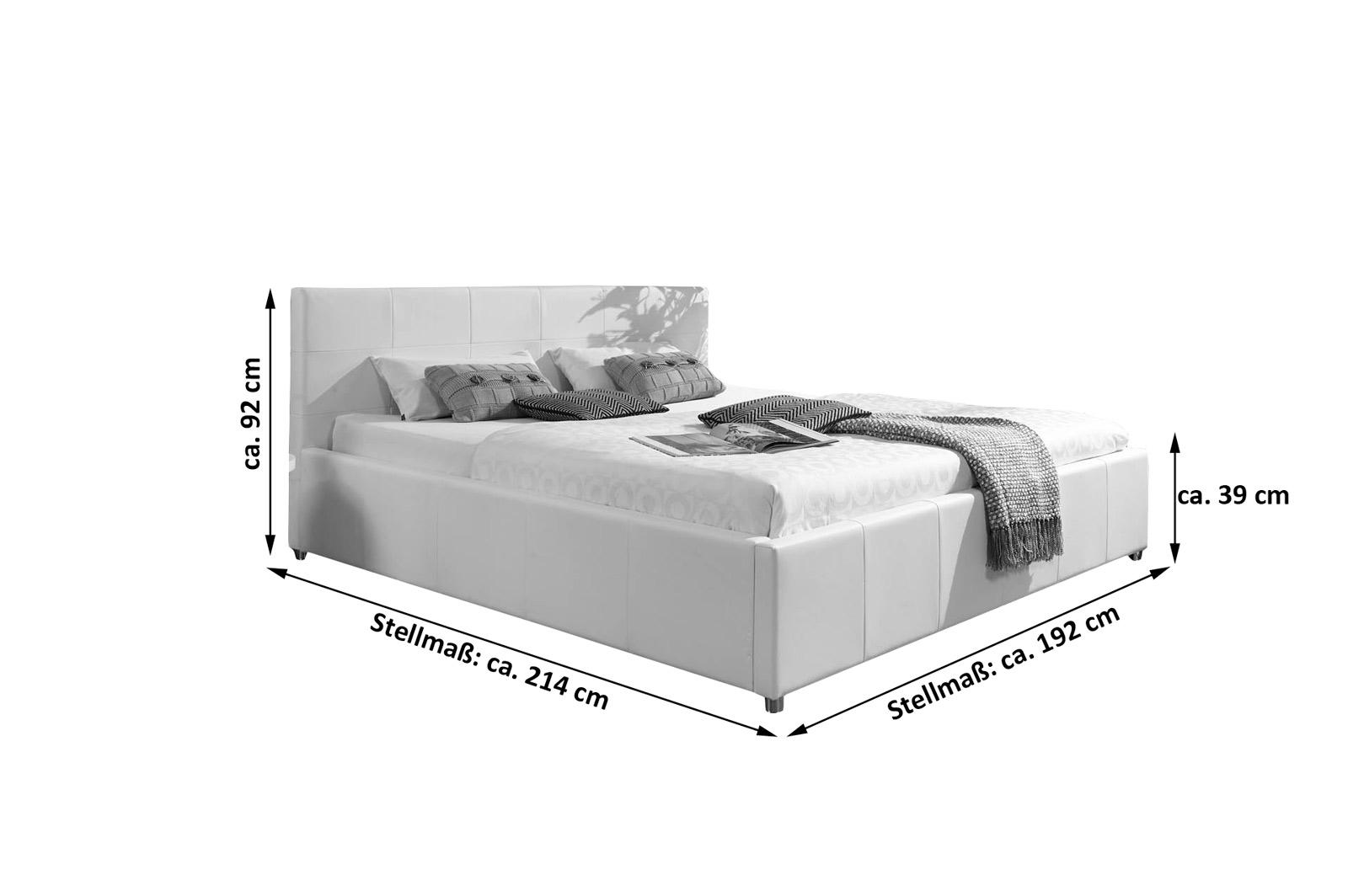 Kinderbett weiß bettkasten  SAM® Design Bett 180 x 200 cm weiß KIRA Bettkasten