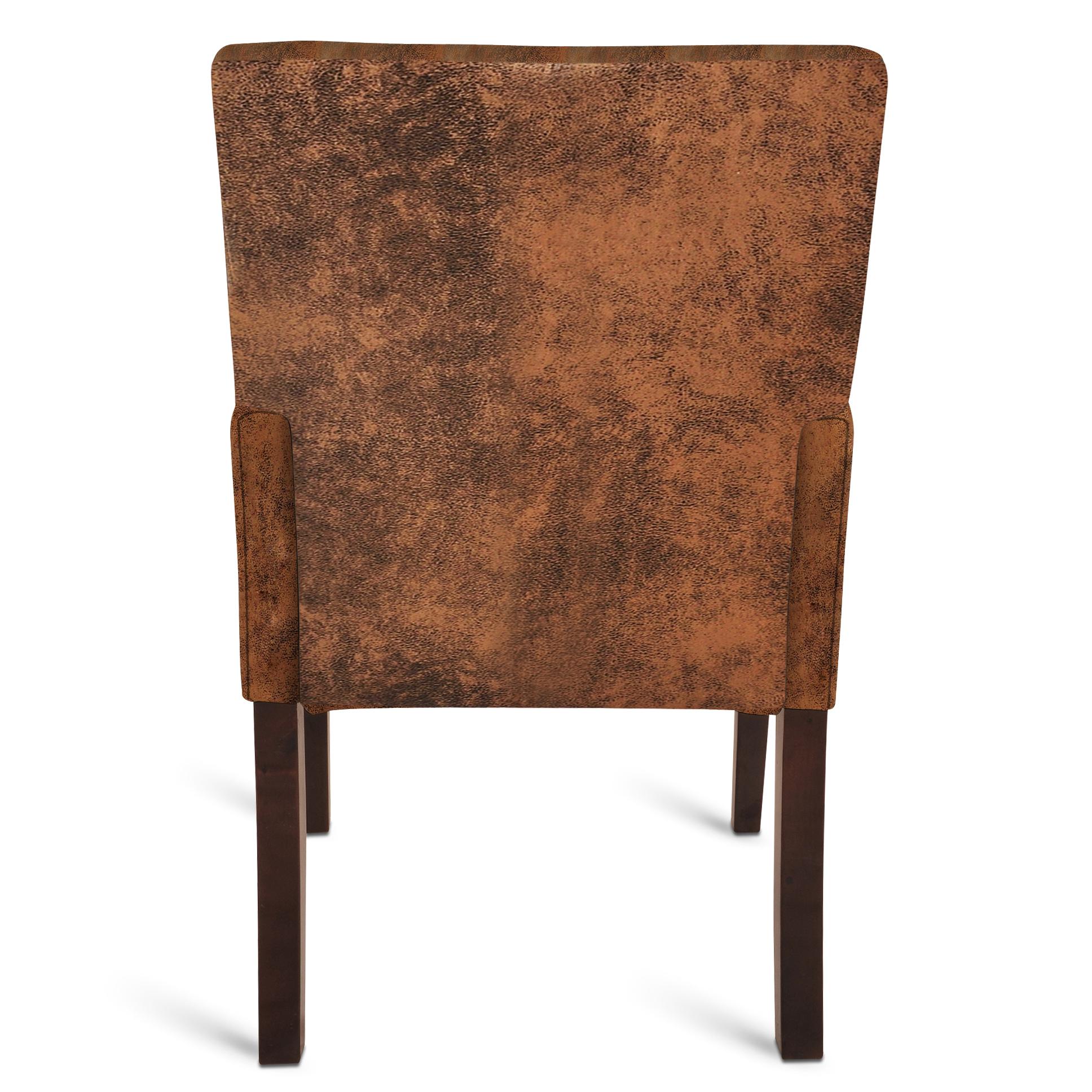 sam stoff armlehnstuhl wildleder optik kolonial modica auf lager. Black Bedroom Furniture Sets. Home Design Ideas