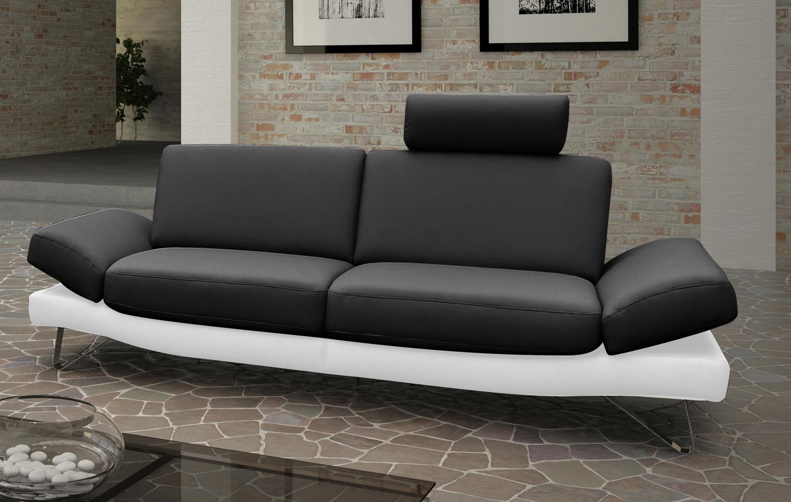 Design polstermöbel  SAM® Design Sofa Garnitur 2 & 3 Sitzer schwarz weiß CLASSIC