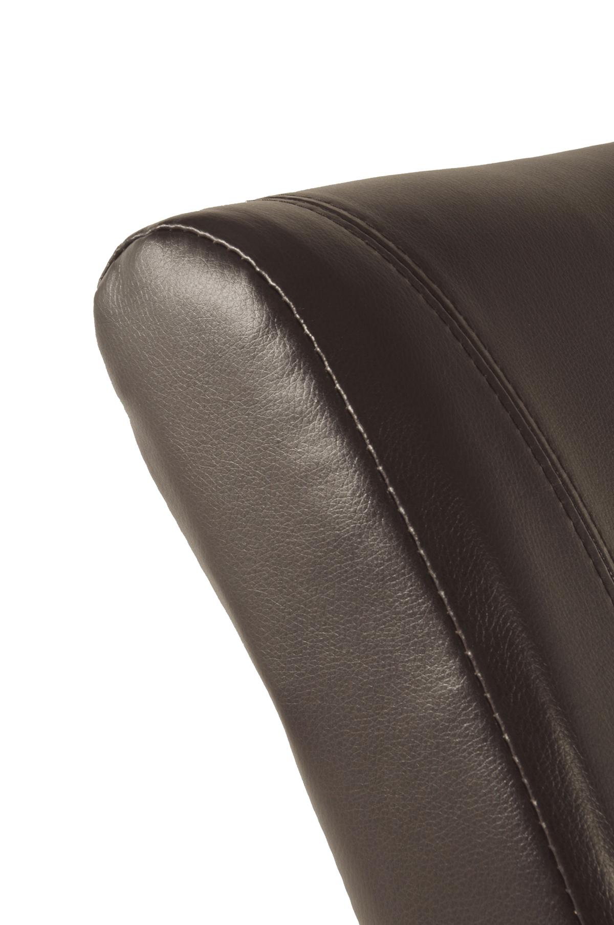 sam polster stuhl recyceltes leder braun kolonial ascoli auf lager. Black Bedroom Furniture Sets. Home Design Ideas