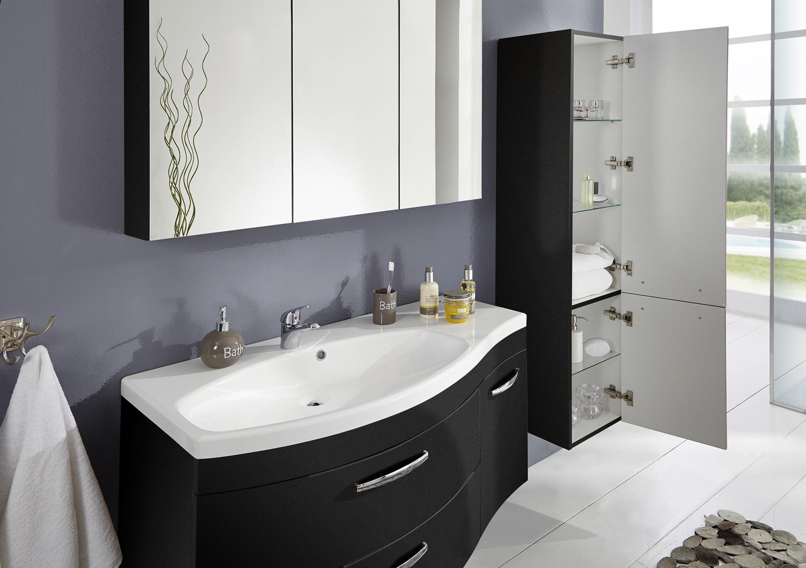 sam badm bel matt anthrazit 3tlg spiegelauswahl vena links. Black Bedroom Furniture Sets. Home Design Ideas