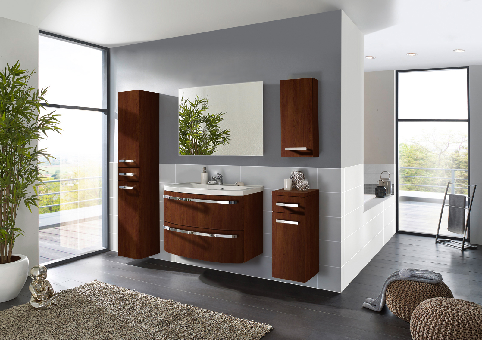 sam badm bel set 5tlg waschtisch 90 cm wenge holz dynamic. Black Bedroom Furniture Sets. Home Design Ideas