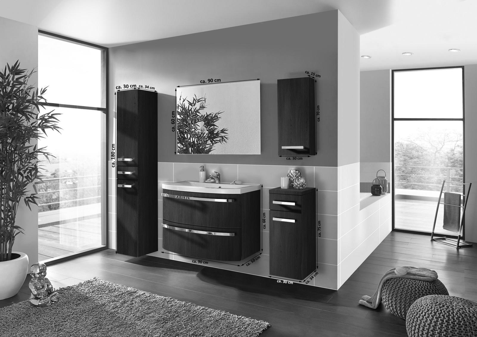 sam badm bel set 5tlg waschtisch 90 cm wenge holz dynamic. Black Bedroom Furniture Sets. Home Design Ideas