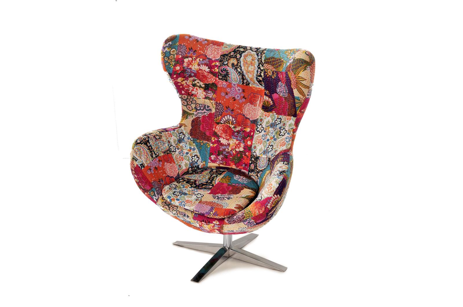 Sale ohrensessel edelstahlfu blumenmuster kamila for Designer badmobel sale