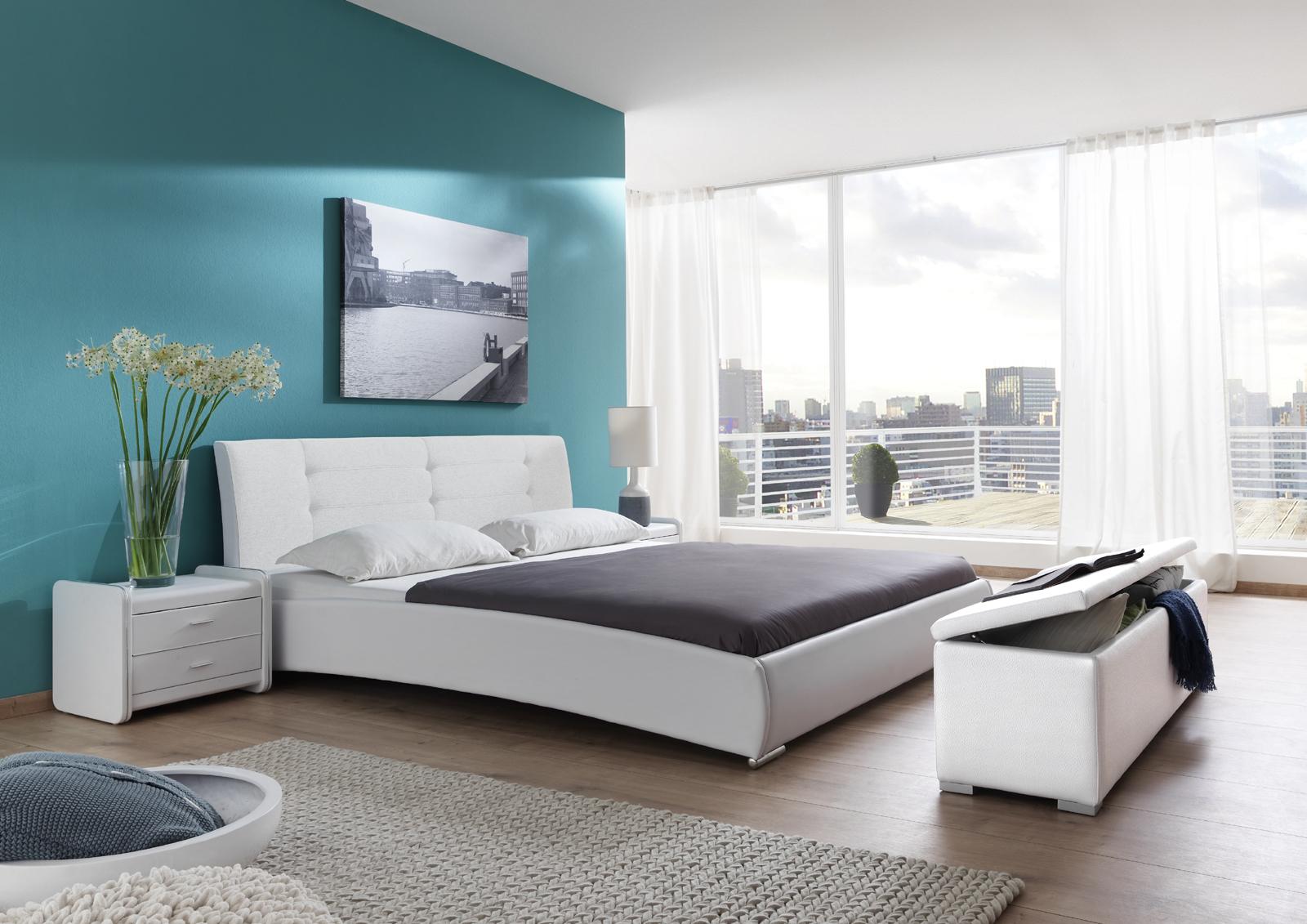 Einzelbett design  SAM® Polsterbett Einzelbett 90 x 200 cm weiß BEBOP
