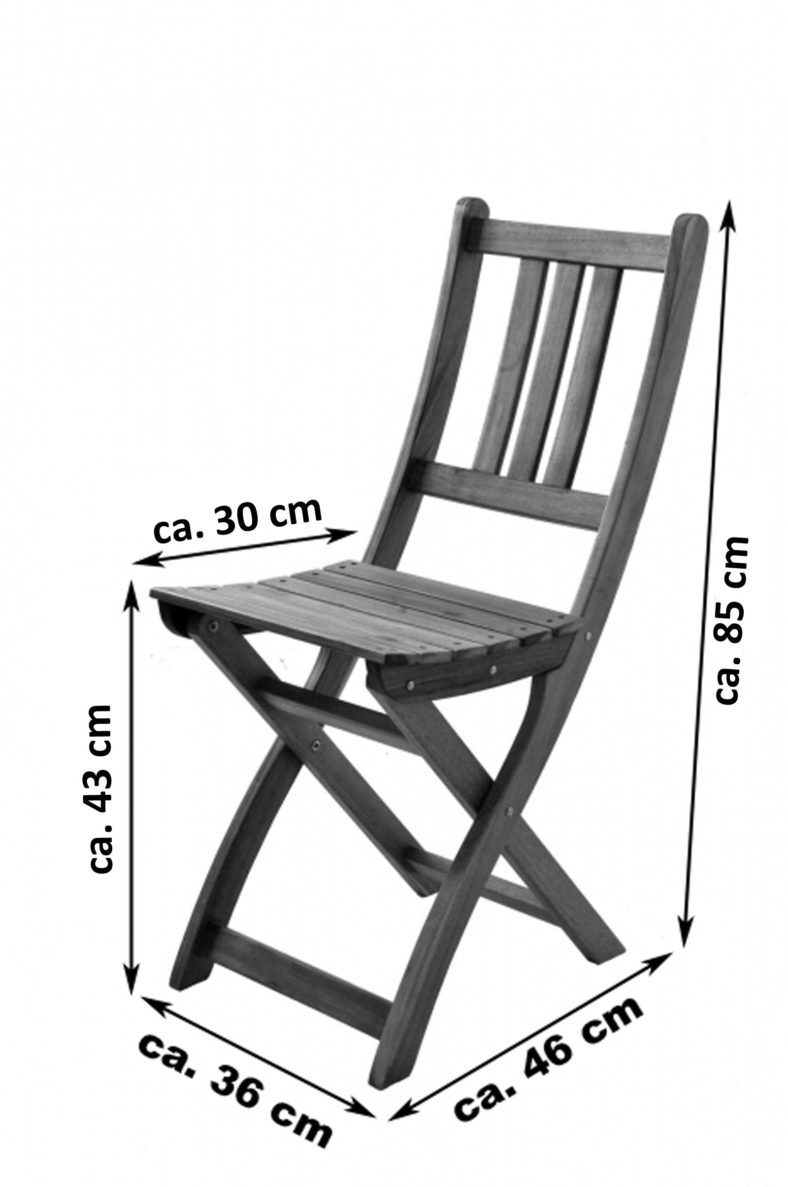 SAM® Balkonmöbel Set Akazie 3tlg Balkontisch 60 x 60 cm FSC® BLOOM