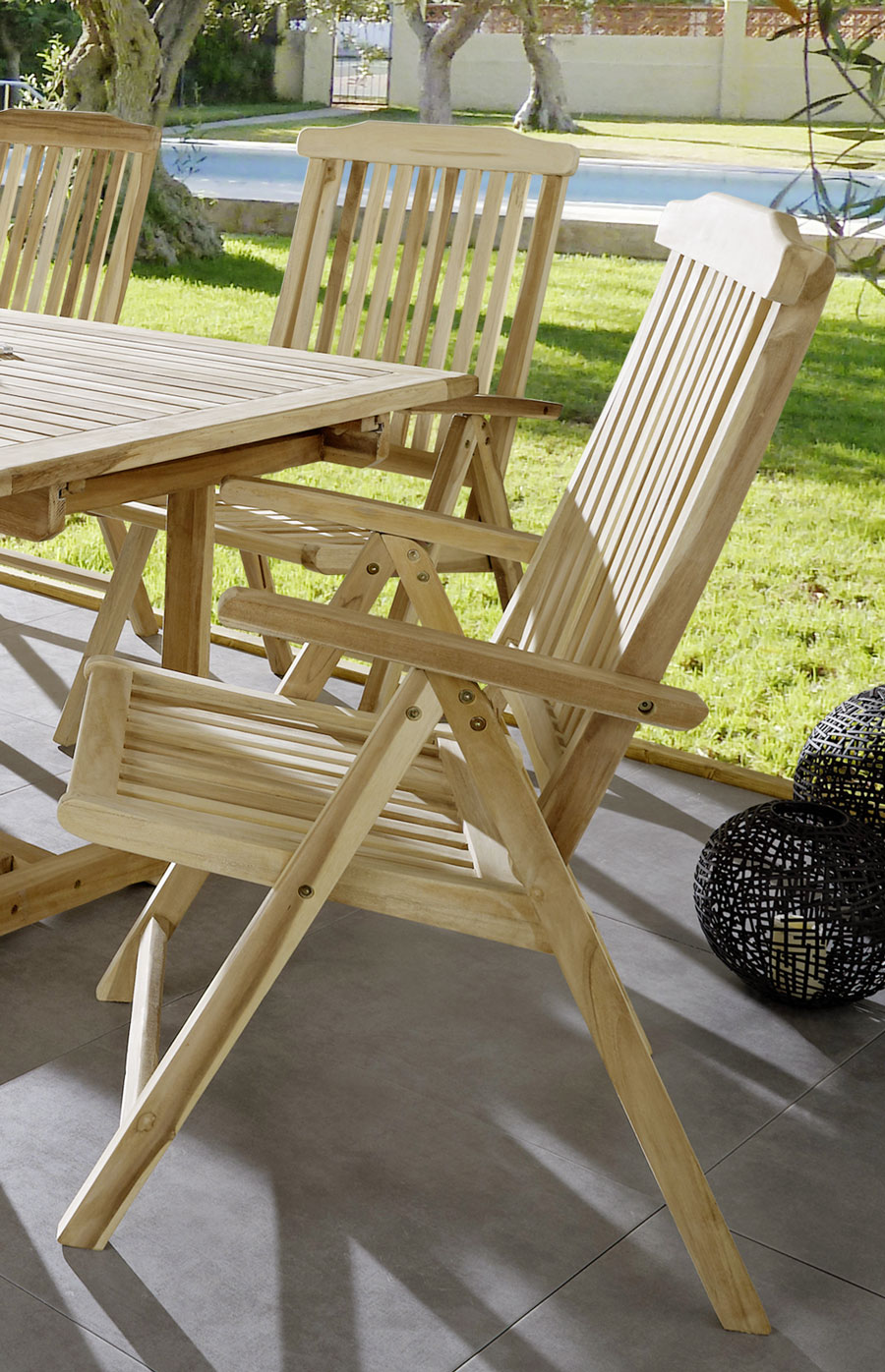 Sam gartenm bel teak set 7tlg gartentisch 180 cm 240 for Gartenmobel teak set