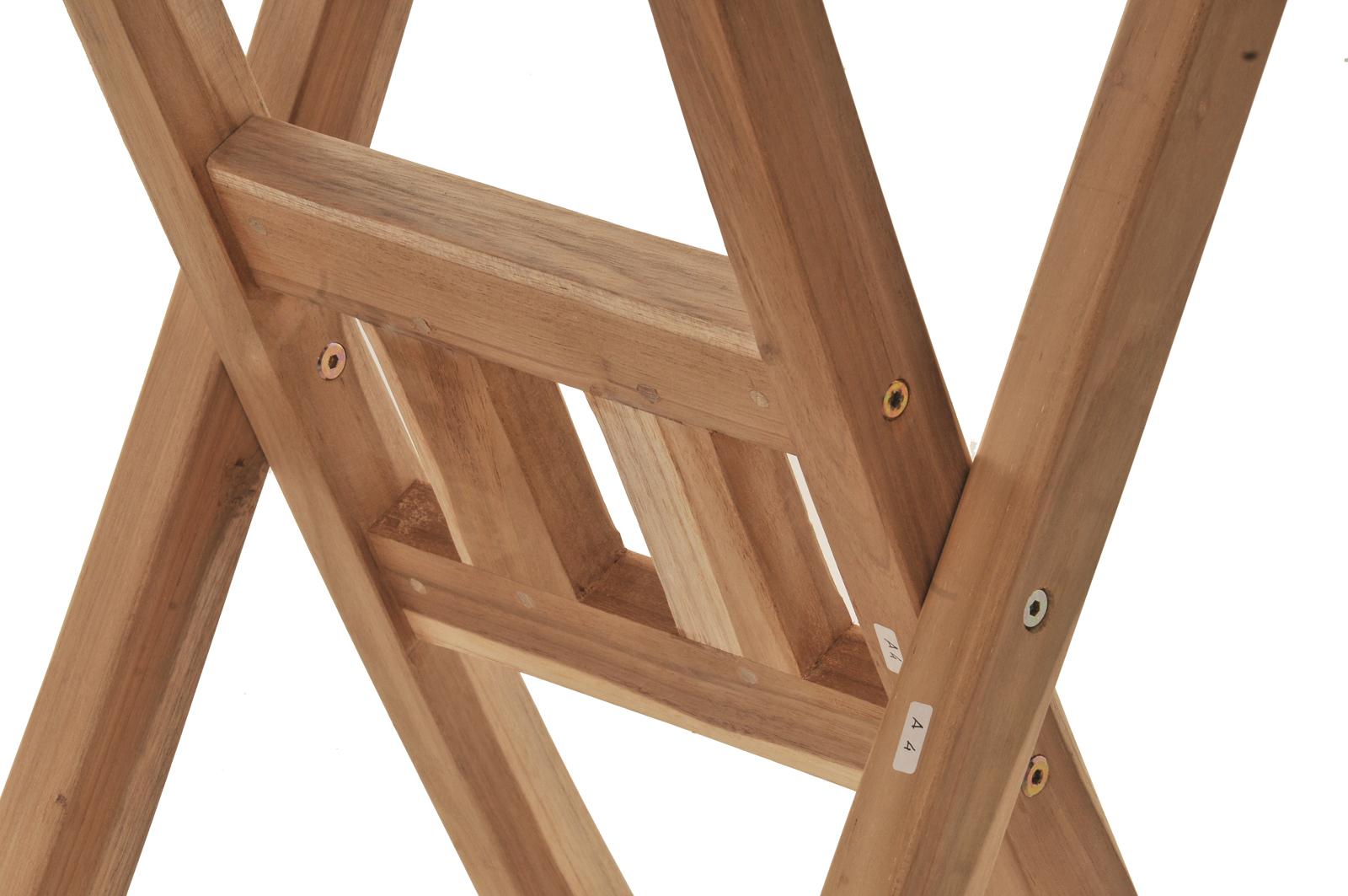 SAM® Balkonmöbel Set Teak 3tlg Tisch 70x70 und 2 Klappstühle SUNSET ...