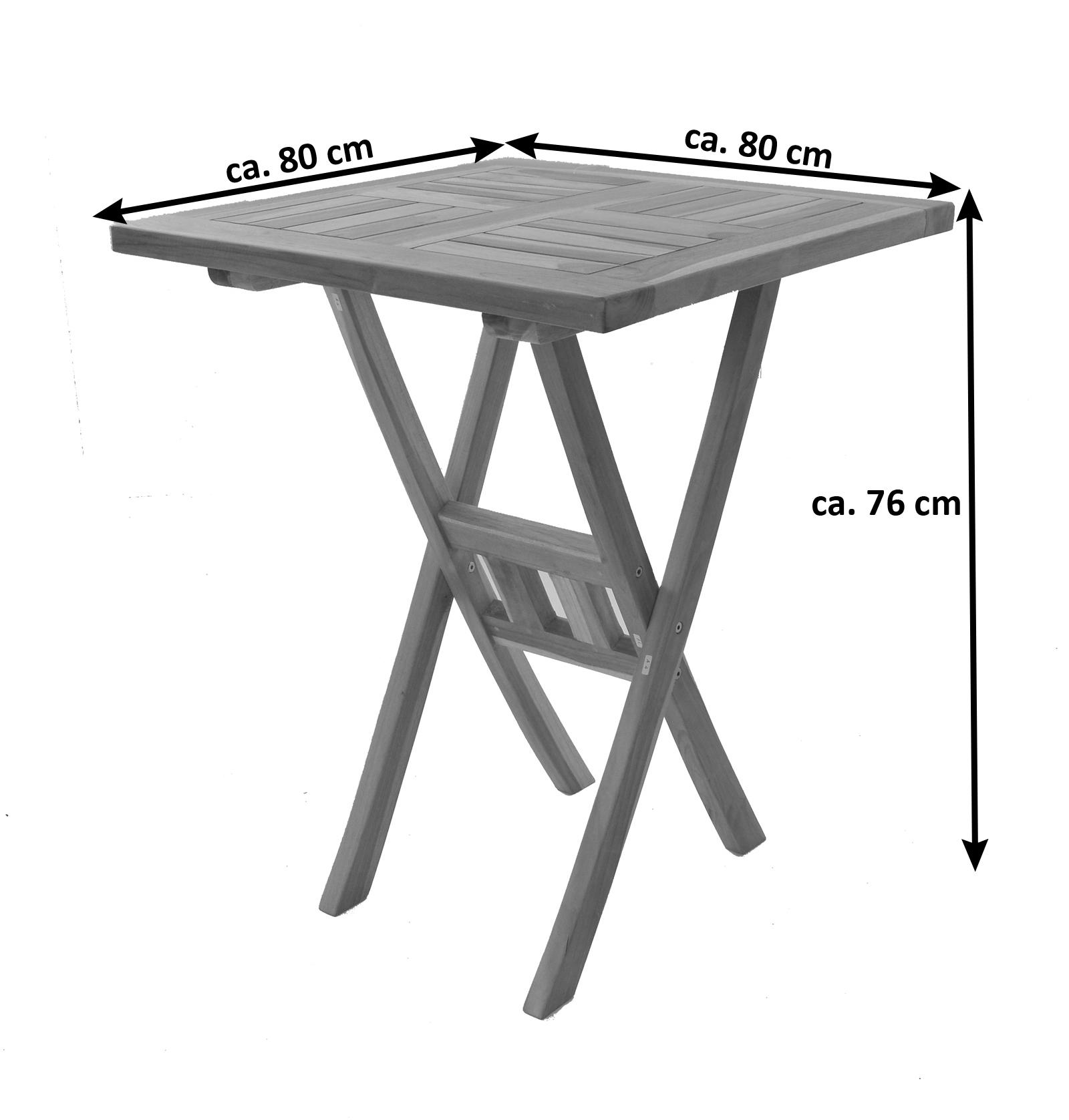 sam balkon set teak 3tlg balkontisch 80 x 80 cm samo demn chst. Black Bedroom Furniture Sets. Home Design Ideas