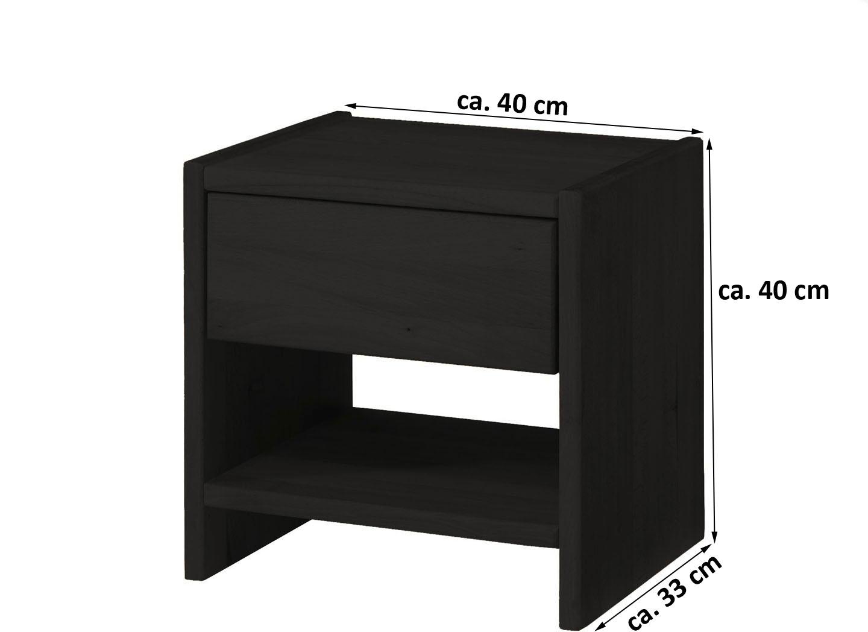 nachttisch 40 cm simple nachttisch lack wei matt ca x x cm with nachttisch 40 cm stunning full. Black Bedroom Furniture Sets. Home Design Ideas