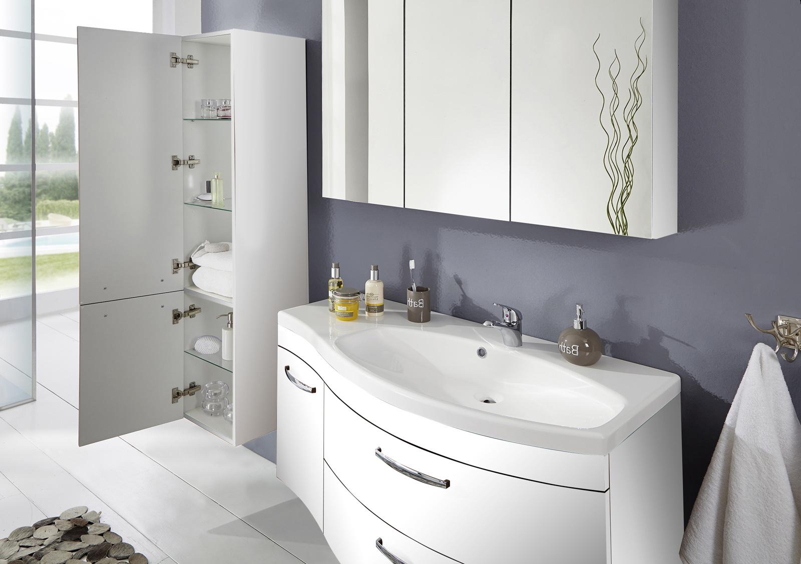 sam badm bel matt wei 3tlg spiegelauswahl vena rechts. Black Bedroom Furniture Sets. Home Design Ideas