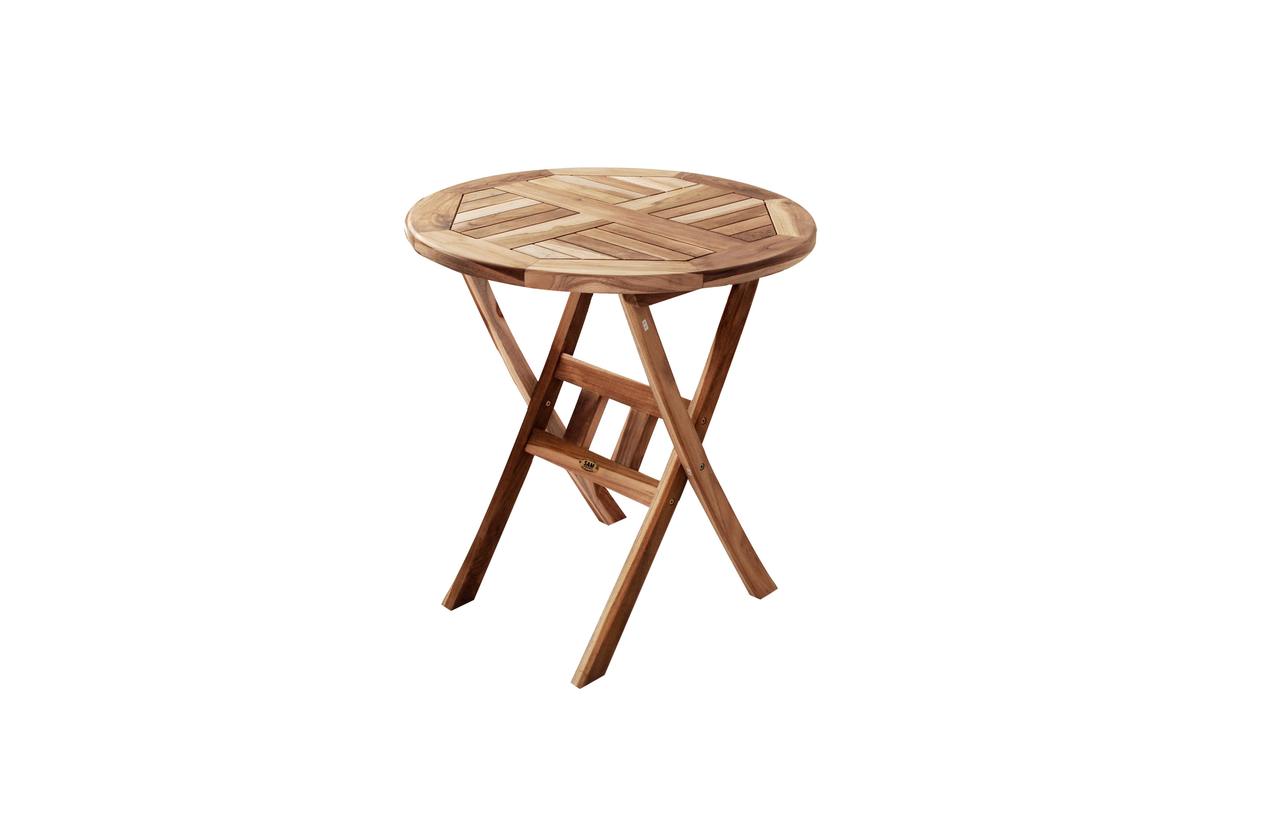 SAM® Balkonmöbel Teak 3tlg Tisch 70 cm 2 Klappstühle ROMANA Demnächst !
