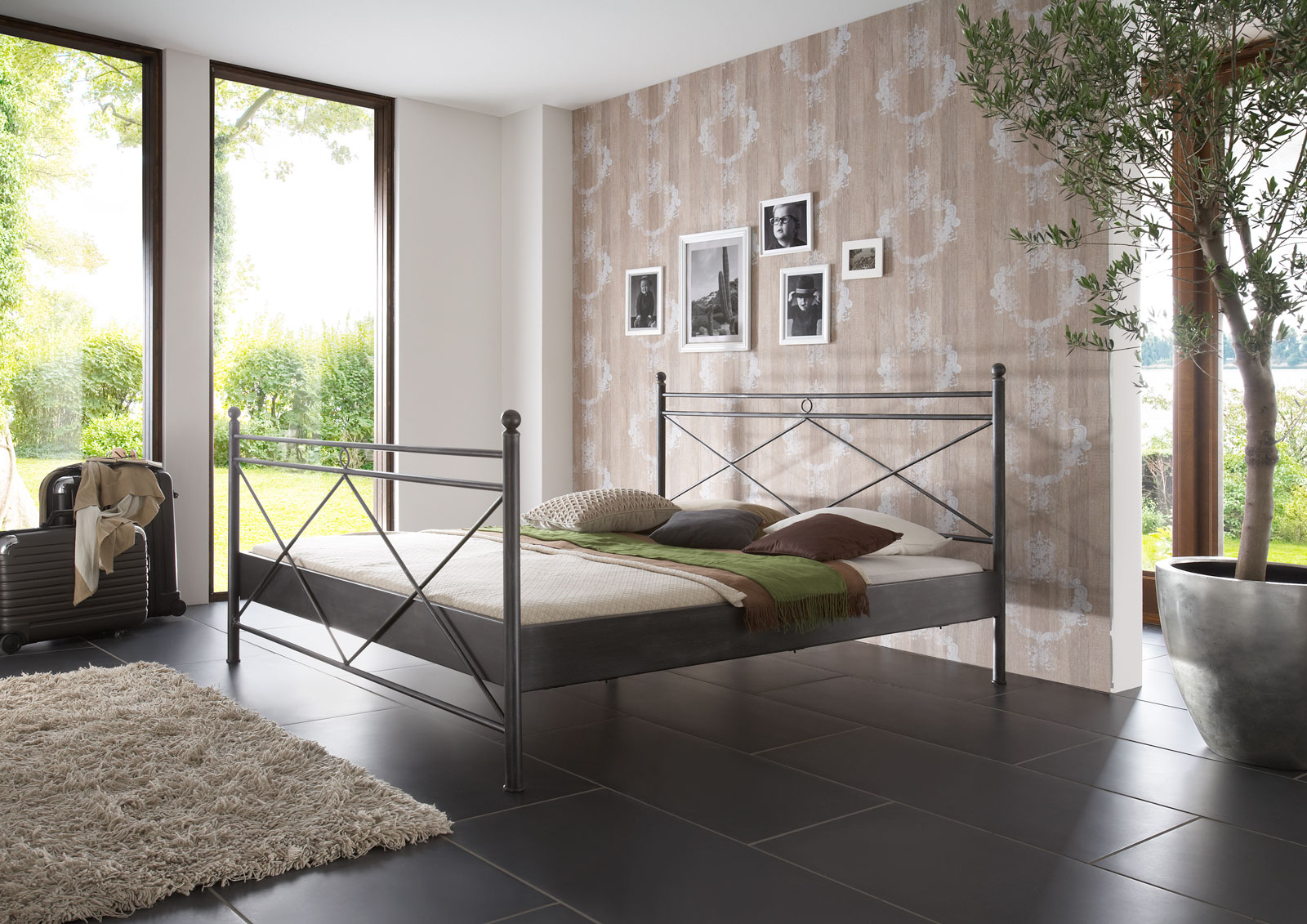 sam metallbett schwarz 180 x 200 cm imola g nstig. Black Bedroom Furniture Sets. Home Design Ideas