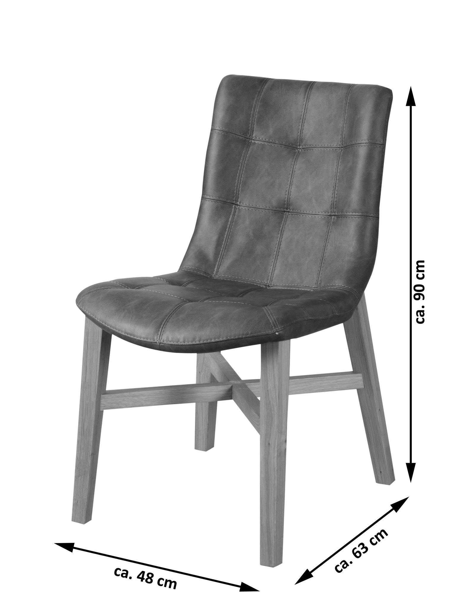 sam esszimmer design stuhl anthrazit eiche bernd. Black Bedroom Furniture Sets. Home Design Ideas