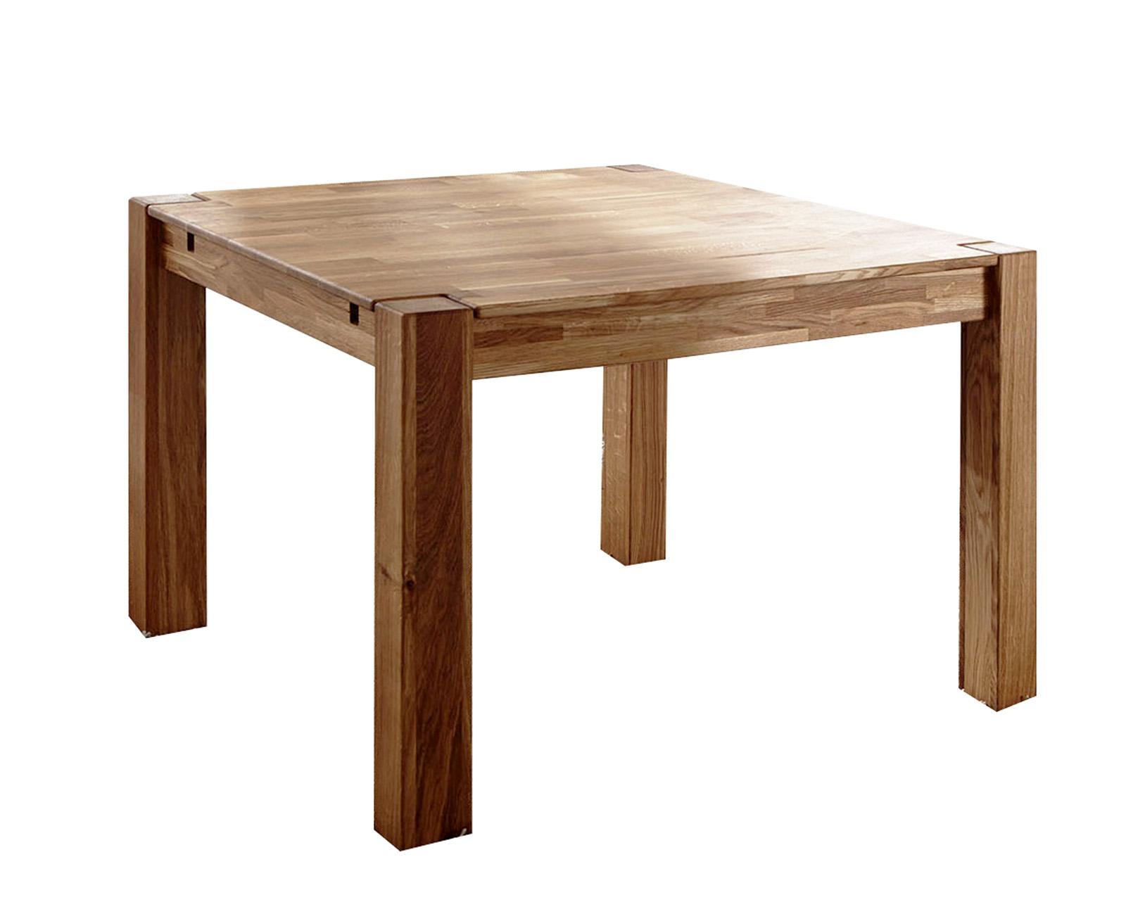 SAM® Esstisch Massivholz 80 x 80 cm Holztisch Wildeiche HELMUT