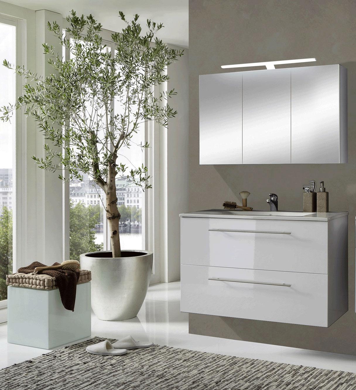 sam badm bel set 2tlg waschtisch 90 cm hochglanz wei z rich demn chst. Black Bedroom Furniture Sets. Home Design Ideas