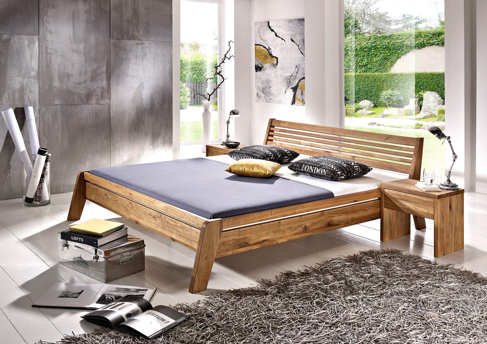 sam massivholzbett doppelbett 180x200 cm wildeiche minimal2 comfort. Black Bedroom Furniture Sets. Home Design Ideas