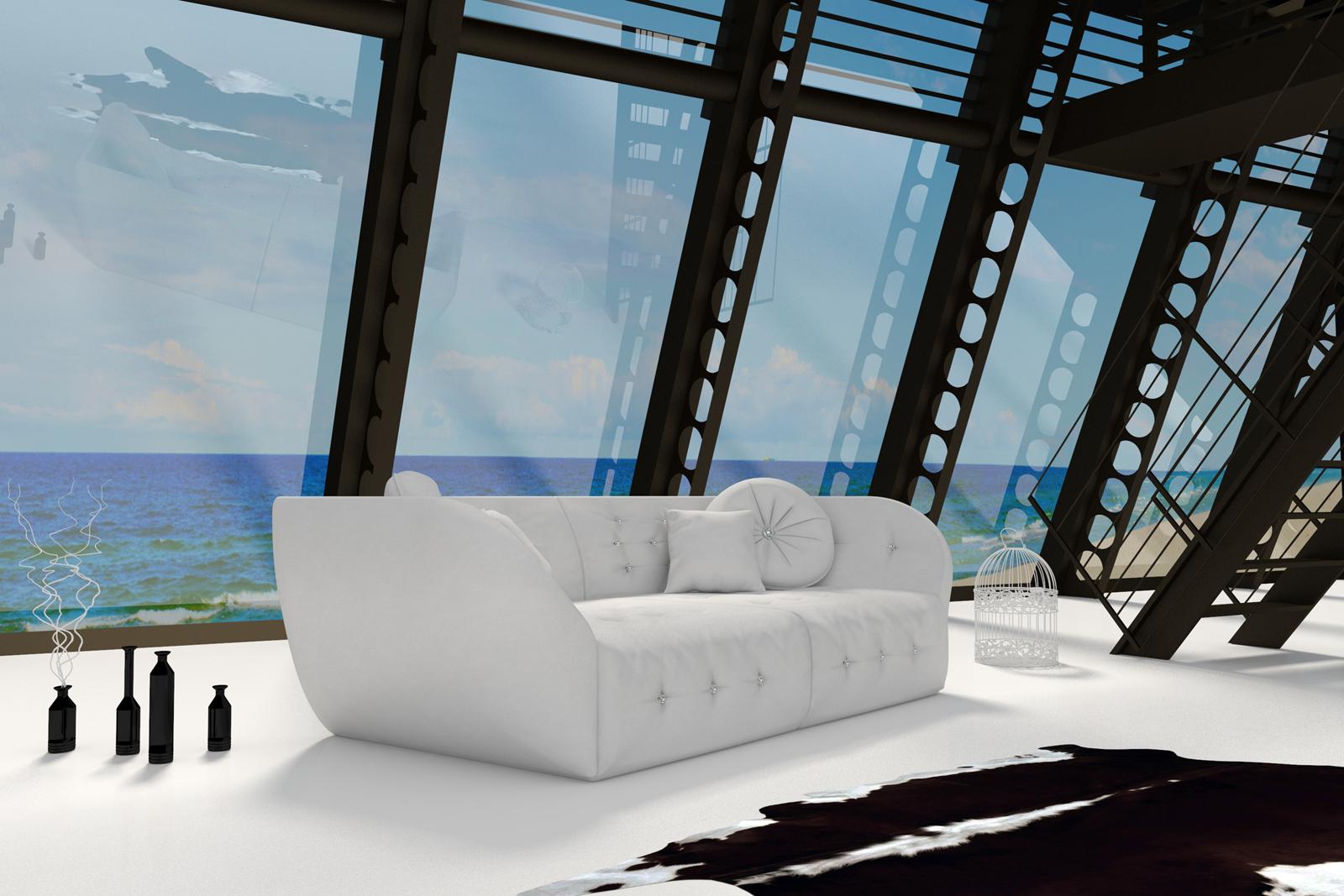 SAM® Design Sofa weiß Couch Shel günstig