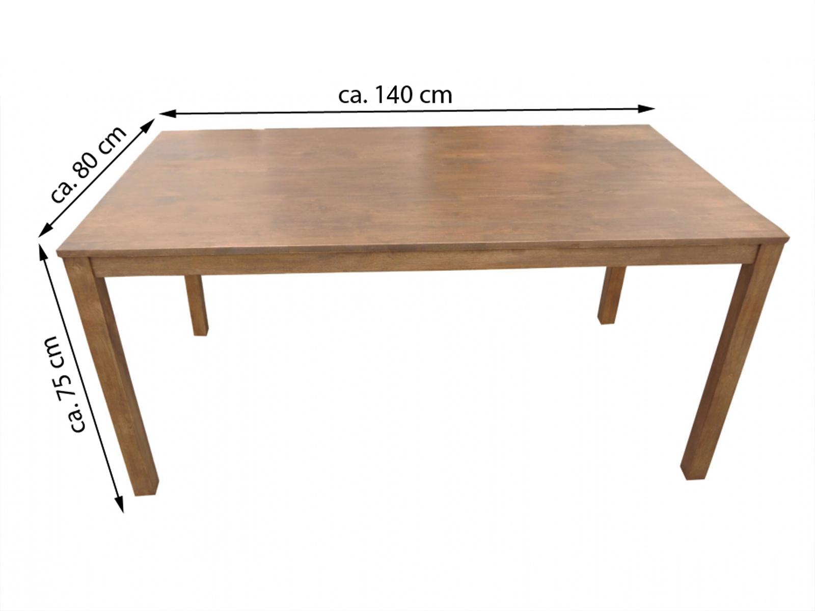 sale esstisch massivholztisch 140 x 80 cm akazie nussbaum tom ii. Black Bedroom Furniture Sets. Home Design Ideas