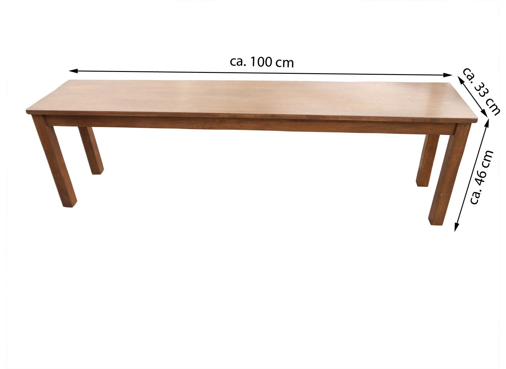 Blickfang Sitzbank 100 Cm Dekoration Von Sale X 33 Massiv Akazie Nussbaum Holzbank
