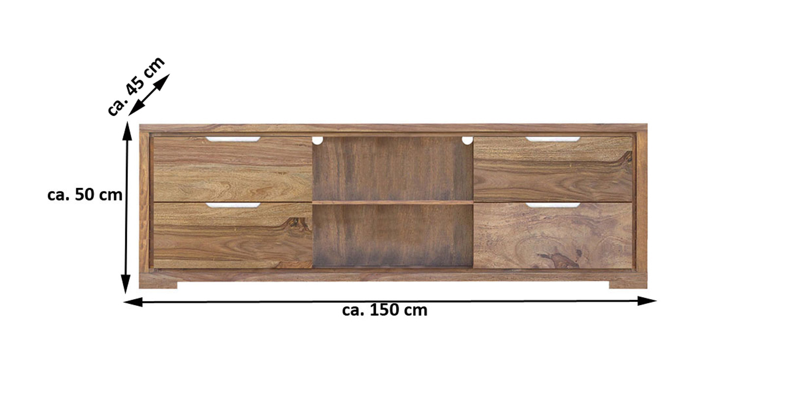sam lowboard tv board 150 cm sheesham white mountain iii. Black Bedroom Furniture Sets. Home Design Ideas