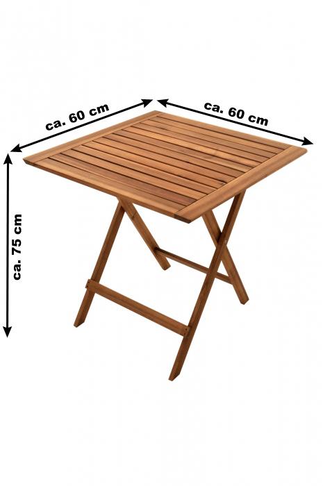 sam balkonm bel set 6tlg akazie 2 balkontische 60 x 60. Black Bedroom Furniture Sets. Home Design Ideas