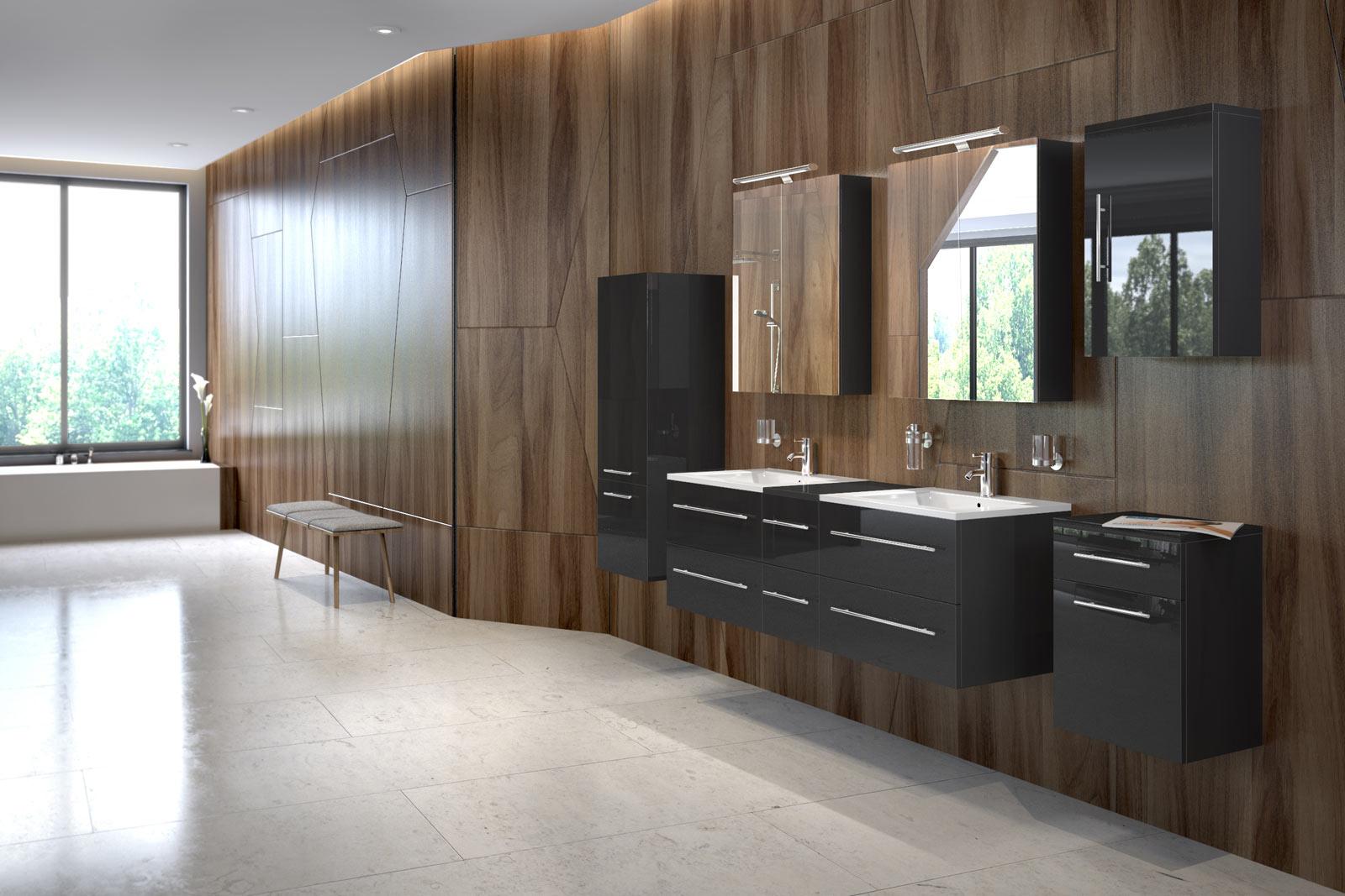 sam badm belset barcelona 8tlg 150 cm spiegelschrank. Black Bedroom Furniture Sets. Home Design Ideas