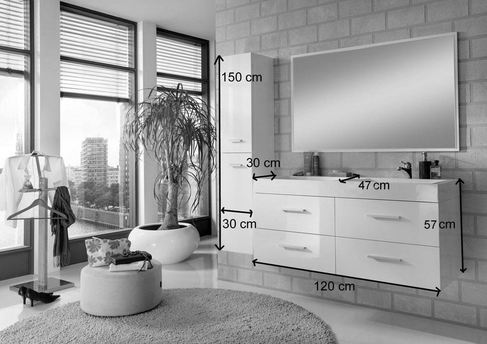 sam badem bel hamburg 3tlg 120 cm hochglanz wei auf lager. Black Bedroom Furniture Sets. Home Design Ideas