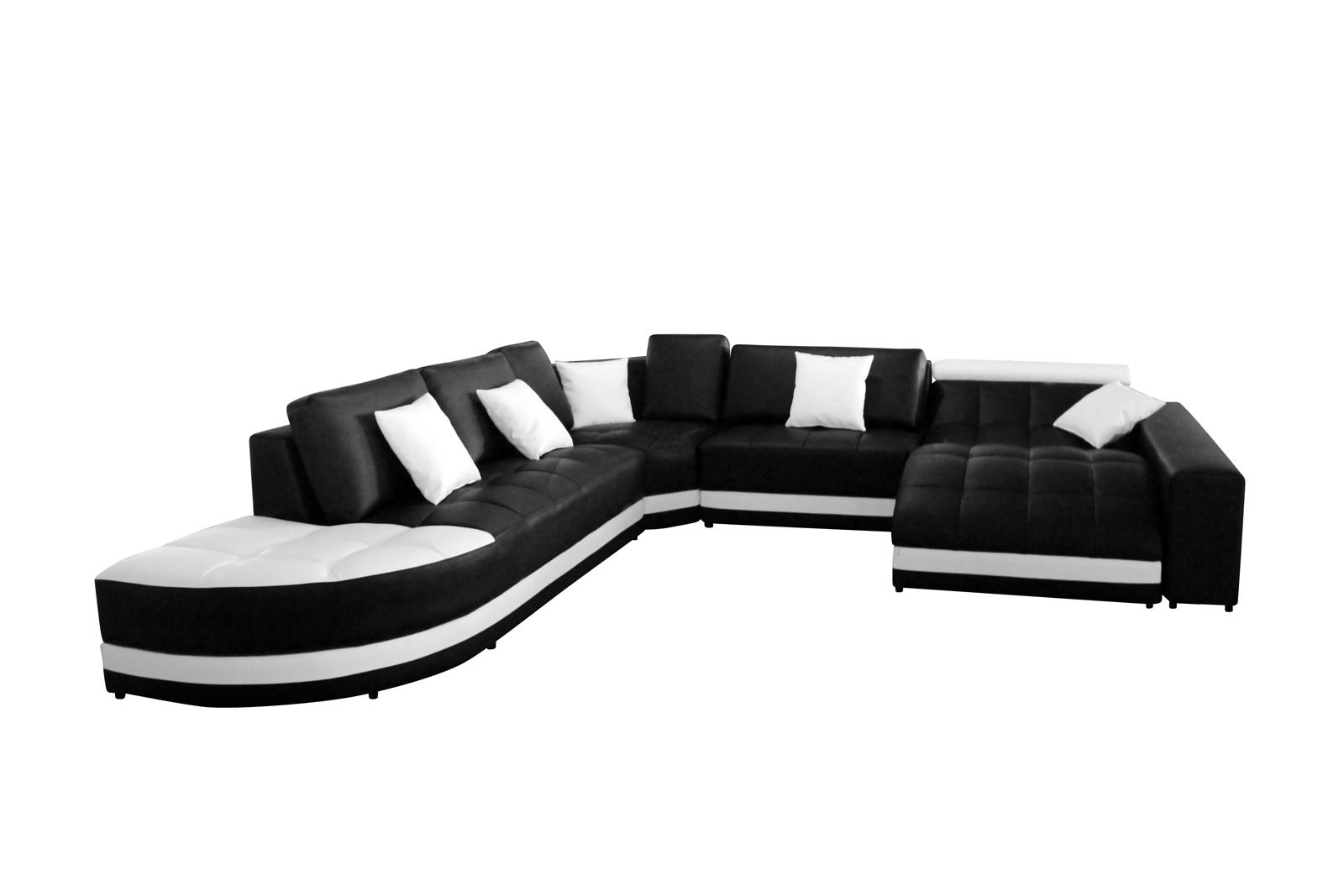 SAM® Sofa Schwarz / Weiß Wohnlandschaft GLORIANNA 311 X 311 X 169 Cm Auf  Lager