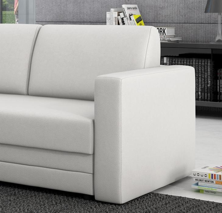 sale sofa schlafsofa wei 150 cm couch carmelita. Black Bedroom Furniture Sets. Home Design Ideas