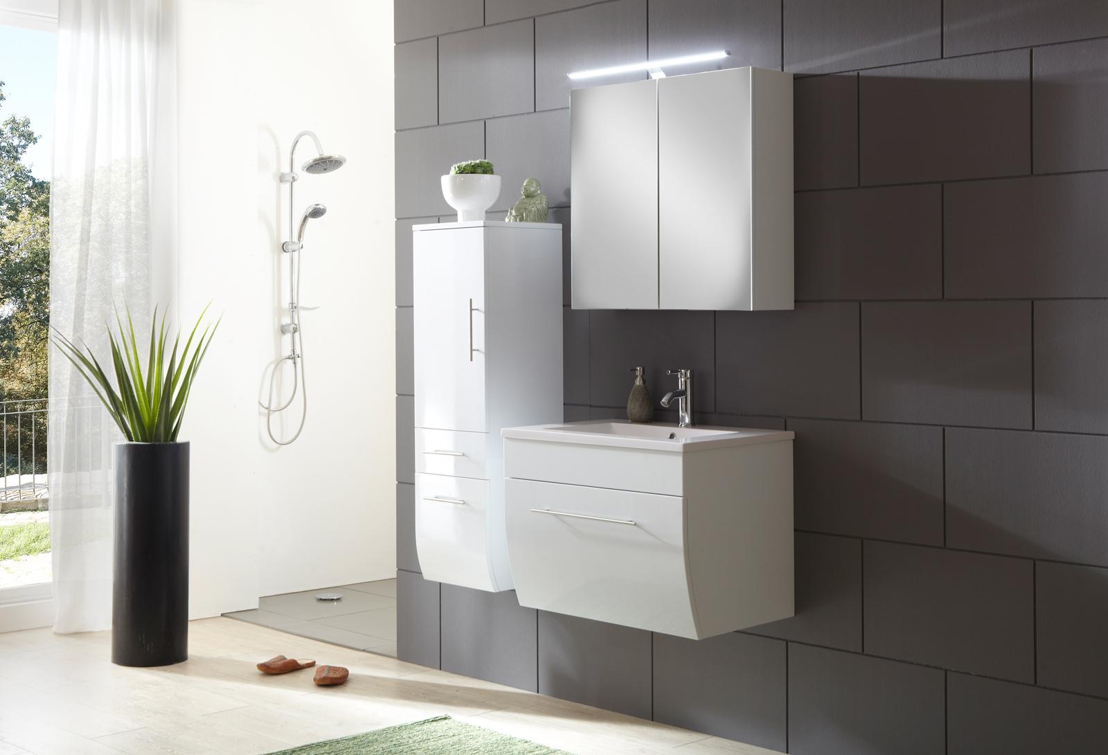 SAM® Badezimmermöbel Zagona 3tlg weiß Hochglanz 70 cm