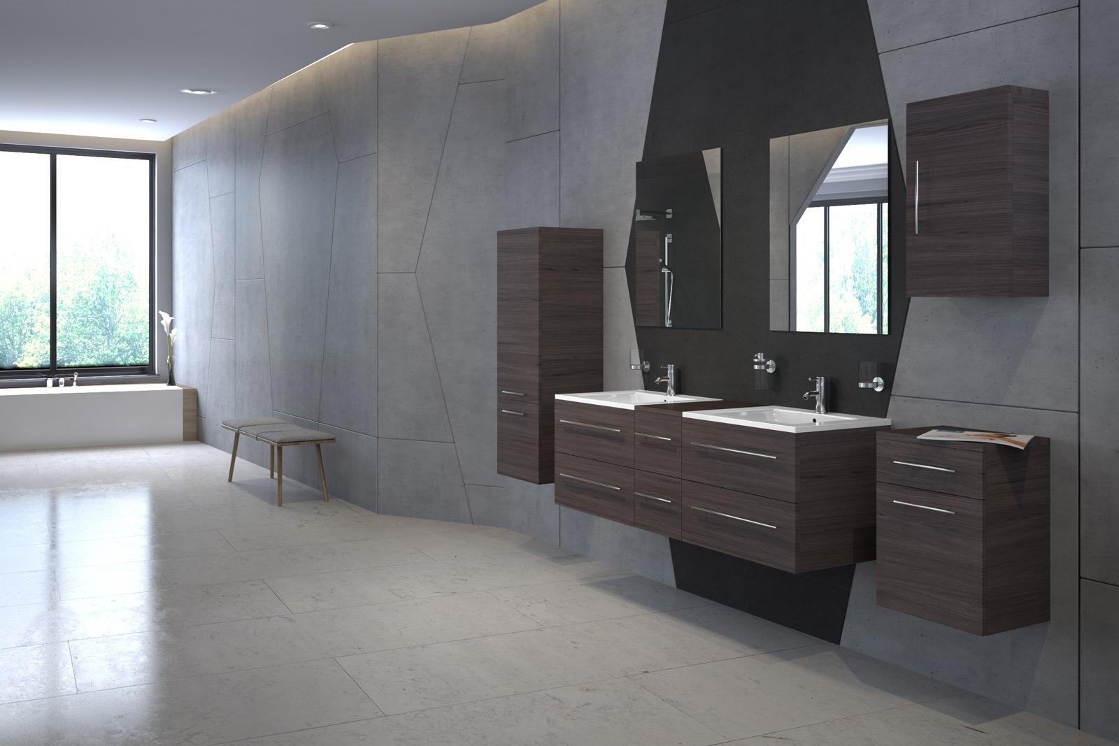 sam badm bel set holz dunkel 150 cm waschtisch 8 teile barcelona. Black Bedroom Furniture Sets. Home Design Ideas