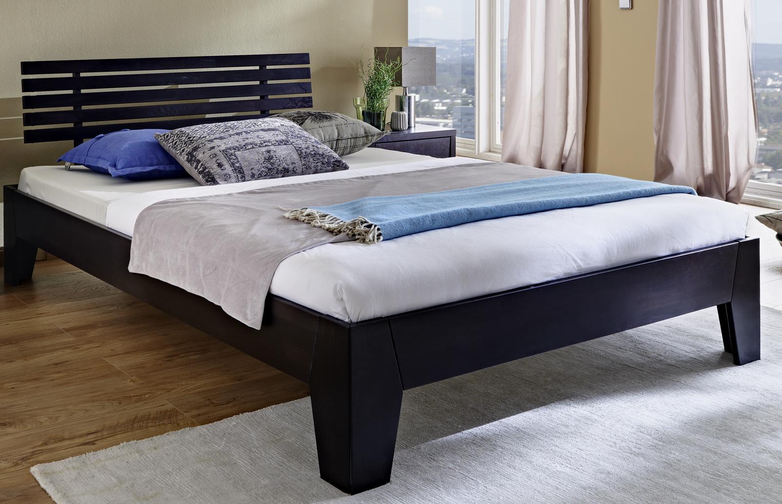 sam massivholzbett g nstig 180 x 200 cm buche massiv wenge bigoli. Black Bedroom Furniture Sets. Home Design Ideas