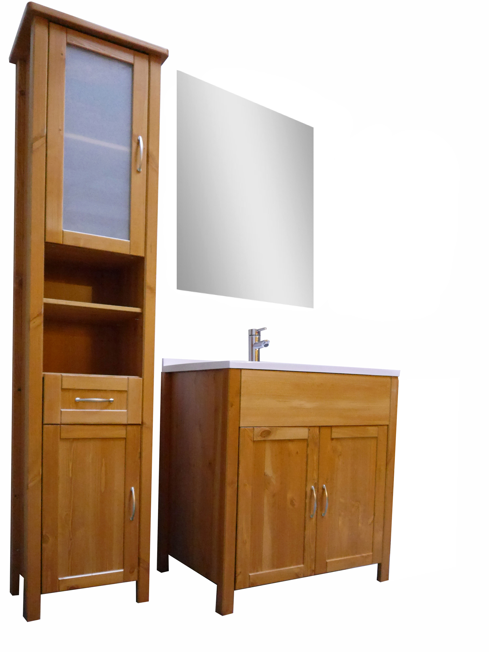sale badm bel set 3tlg honig hoch massiv kiefer lackiert venedig. Black Bedroom Furniture Sets. Home Design Ideas