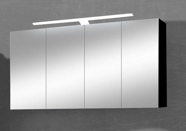 sam 3tlg badezimmer spiegelschrank schwarz 120 cm rom. Black Bedroom Furniture Sets. Home Design Ideas
